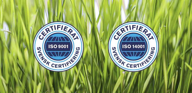 We are now ISO certified