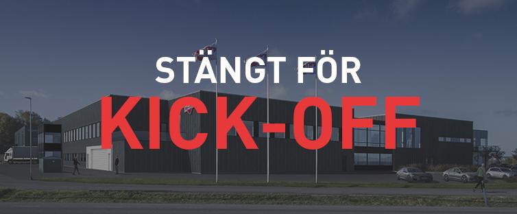 Stängt fr. 14.00 idag för Kick-off